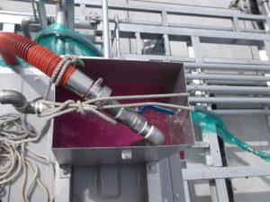 密閉式冷却塔:ブライン投入②